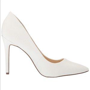 NEW Jessica Simpson Lancie white pointy toe pump